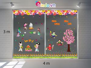 Decal dán tường Trang trí Tết Xuân Combo Số 13