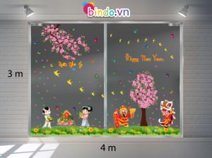 Decal dán tường Trang trí Tết Xuân Combo Số 14