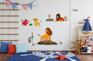 Decal dán tường Vua sư tử và những người bạn số 1 (Lion King)