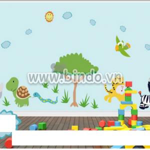 Decal dán tường Vườn thú 7