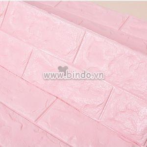 Xốp dán tường màu hồng phấn