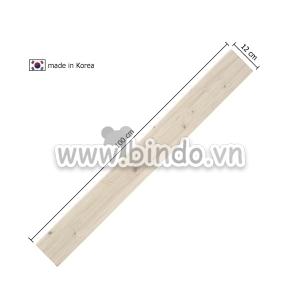 Xốp giả gỗ hàn quốc chân tường Ivory (100x12)